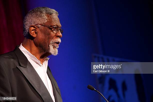 Basketball legend Bill Russell serves as a presenter at 'An Artful Evening At CAAM' Gala at the California African American Museum on October 12 2013...