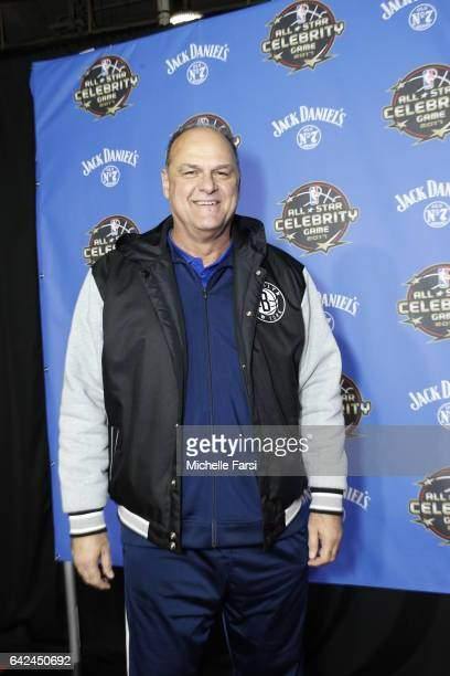 Basketball Legend Oscar Schmidt poses on the red carpet during the 2017 NBA AllStar Celebrity Game as part of 2017 AllStar Weekend at the...