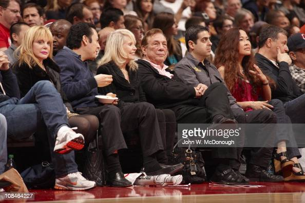 Los Angeles Clippers owner Donald Sterling with wife Shelly in courtside seats during game vs Golden State Warriors at Staples CenterLos Angeles CA...