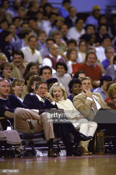 Los Angeles Clippers owner Donald Sterling with wife Rochelle Sterling in courtside seats during game vs Los Angeles Lakers at Los Angeles Memorial...