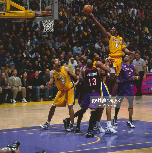 Los Angeles Lakers Kobe Bryant in action vs Toronto Raptors at Staples Center Los Angeles CA CREDIT John W McDonough