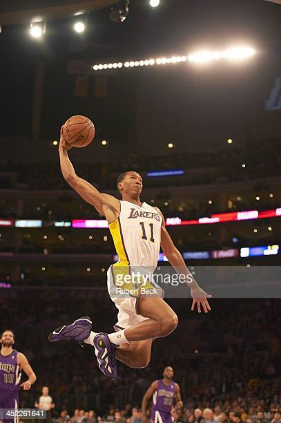 Los Angeles Lakers Wesley Johnson in action vs Sacramento Kings at Staples Center Los Angeles CA CREDIT Robert Beck