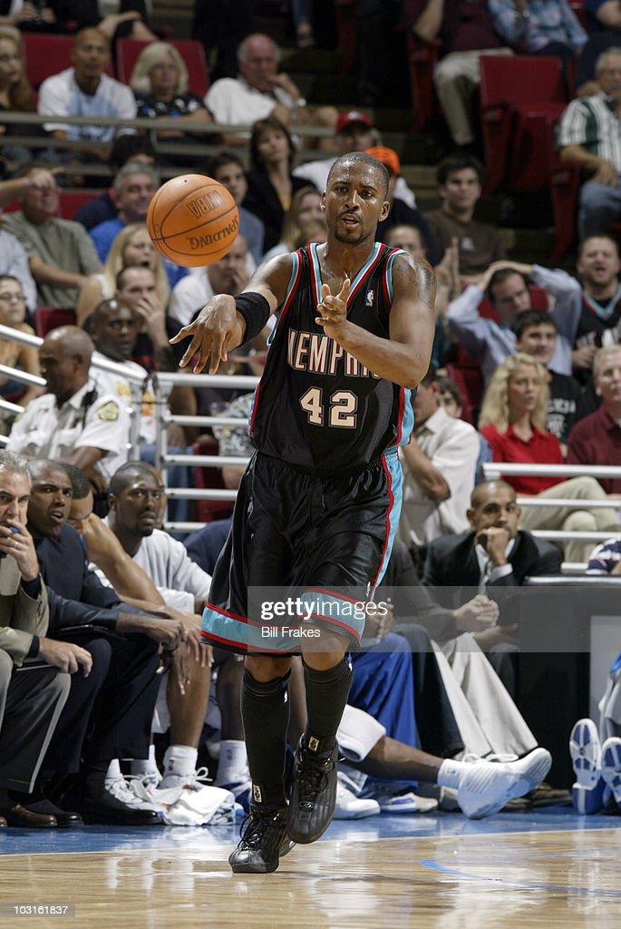Memphis Grizzlies Lorenzen Wright (42) in action vs Orlando Magic. Orlando, FL