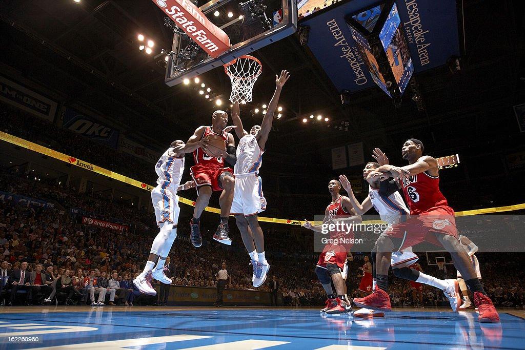 Miami Heat Ray Allen (34) in action vs Oklahoma City Thunder at Chesapeake Energy Arena. Greg Nelson F64 )