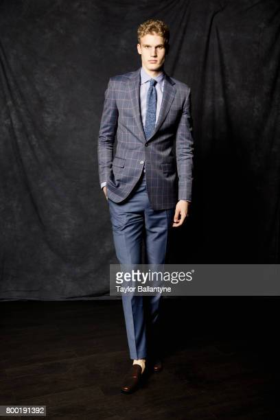 NBA Draft Portrait of Chicago Bulls No 7 pick Lauri Markkanen posing during photo shoot after selection process at Barclays Center Behind the Scenes...