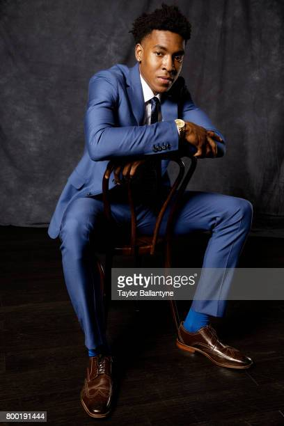 NBA Draft Portrait of Orlando Magic No 33 pick Wesley Iwundu posing during photo shoot after selection process at Barclays Center Behind the Scenes...