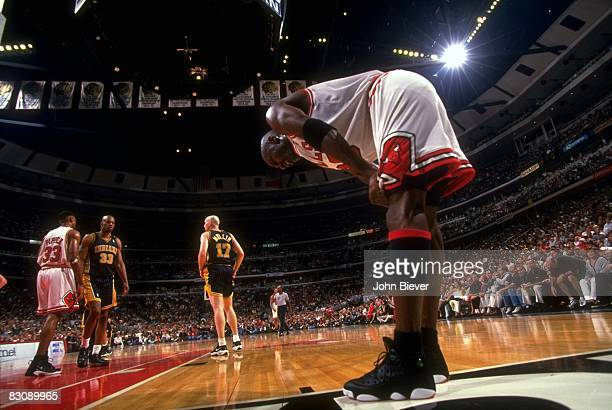 NBA Eastern Conference Finals Chicago Bulls Michael Jordan during game vs Indiana Pacers Game 7 Chicago IL 5/31/1998 CREDIT John Biever