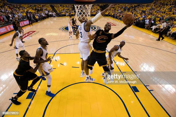 NBA Finals Cleveland Cavaliers Kyrie Irving in action vs Golden State Warriors at Oracle Arena Game 2 Oakland CA CREDIT John W McDonough