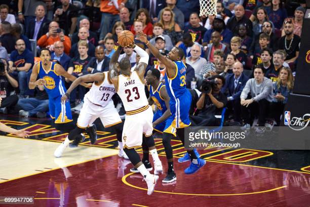 NBA Finals Cleveland Cavaliers LeBron James in action vs Golden State Warriors Kevin Durant at Quicken Loans Arena Game 3 Cleveland OH CREDIT John W...