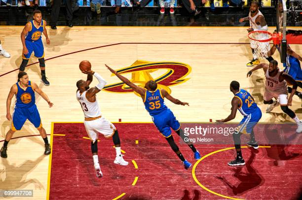 NBA Finals Cleveland Cavaliers LeBron James in action vs Golden State Warriors Kevin Durant at Quicken Loans Arena Game 3 Cleveland OH CREDIT Greg...