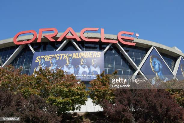 NBA Finals Exterior view of Oracle Arena before Golden State Warriors vs Cleveland Cavaliers game Game 5 Oakland CA CREDIT Greg Nelson