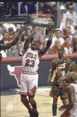 NBA Finals Game 6 Chicago Bulls Michael Jordan in action vs Seattle SuperSonics