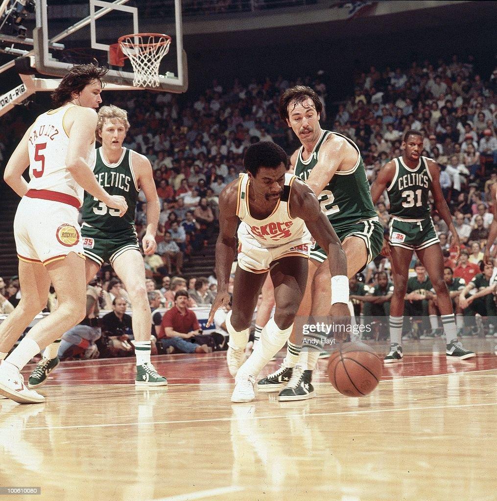 Houston Rockets Calvin Murphy (23) in action vs Boston Celtics. Houston, TX 5/9/1981--5/14/1981