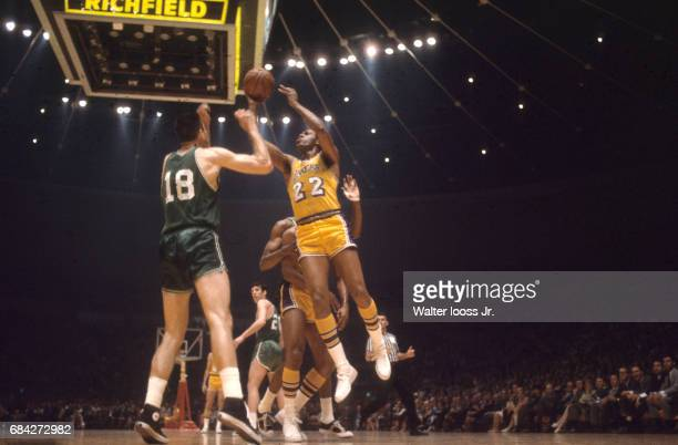 NBA Finals Los Angeles Lakers Elgin Baylor in action vs Boston Celtics at The Forum Game 6 Inglewood CA CREDIT Walter Iooss Jr