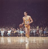 Basketball NBA Finals Los Angeles Lakers Jerry West in action vs Boston Celtics Inglewood CA 4/23/19694/25/1969