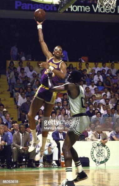 Los Angeles Lakers Kareem Abdul-Jabbar, 1985 NBA Finals ...