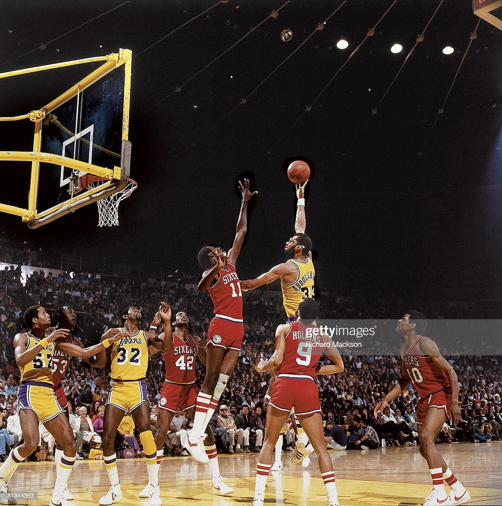 Los Angeles Lakers Kareen Abdul Jabbar 1982 NBA Finals