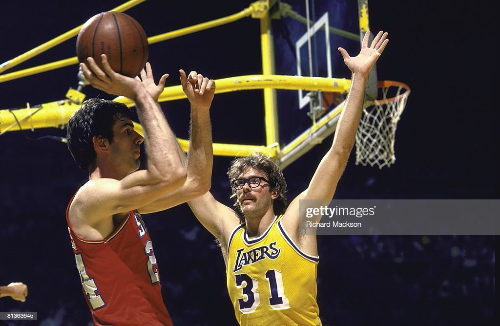 1836702a7ee ... Jersey NBA finals, Los Angeles Lakers Kurt Rambis (31) in action,  playing defense ...