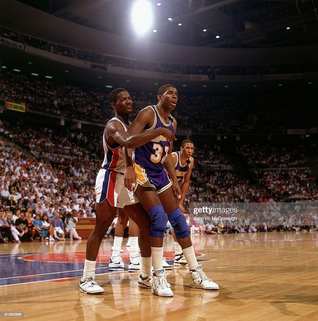 Los Angeles Lakers Magic Johnson 1989 NBA Finals