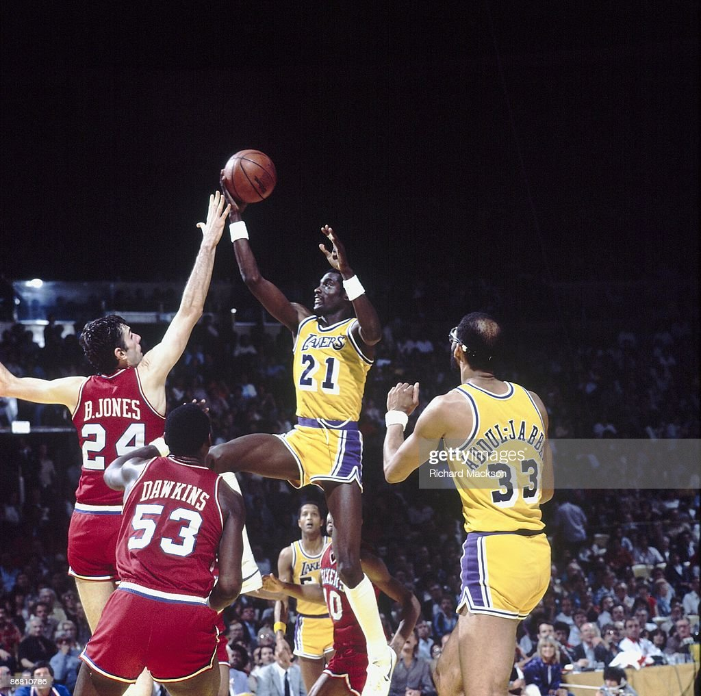 Los Angeles Lakers Michael Cooper 1982 NBA Finals