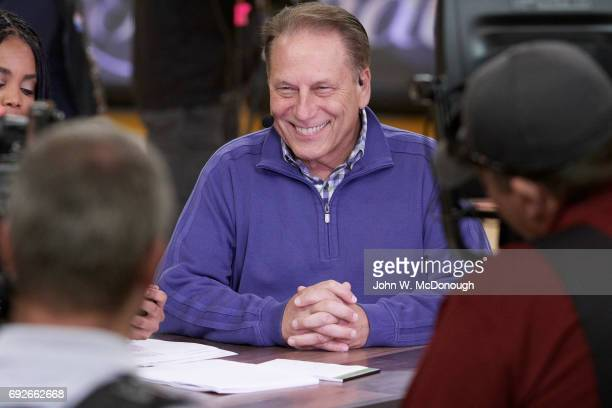 NBA Finals Michigan State coach Tom Izzo before Golden State Warriors vs Cleveland Cavaliers game at Oracle Arena Oakland CA CREDIT John W McDonough
