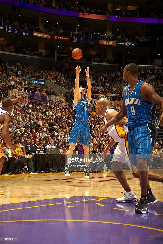 Orlando Magic Hedo Turkoglu (15) in action vs Los Angeles Lakers. Game 2. Los Angeles, CA 6/7/2009