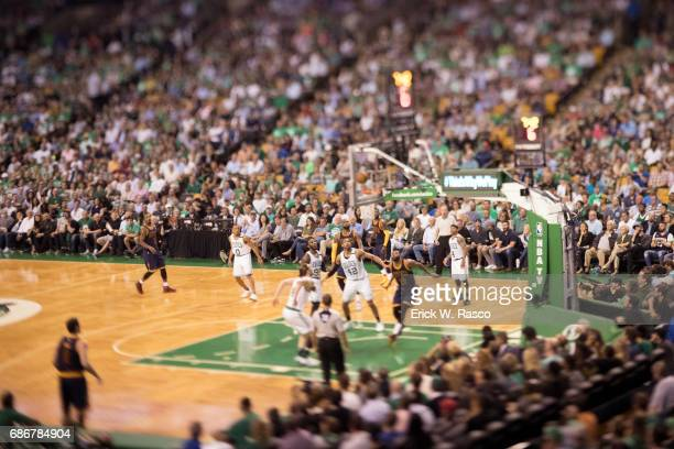 NBA Playoffs Aerial view of Boston Celtics Al Horford in action vs Cleveland Cavaliers at TD Garden Game 1 Boston MA CREDIT Erick W Rasco