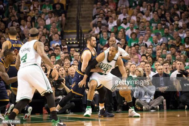 NBA Playoffs Boston Celtics Al Horford in action vs Cleveland Cavaliers Kevin Love at TD Garden Game 1 Boston MA CREDIT Erick W Rasco