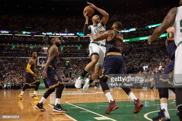 NBA Playoffs Boston Celtics Al Horford in action vs Cleveland Cavaliers Tristan Thompson at TD Garden Game 2 Boston MA CREDIT Erick W Rasco