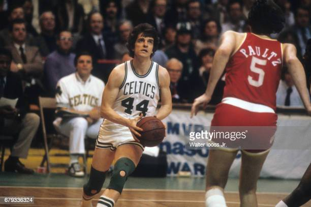 NBA Playoffs Boston Celtics Pete Maravich in action vs Houston Rockets at Boston Garden Game 1 Boston MA CREDIT Walter Iooss Jr