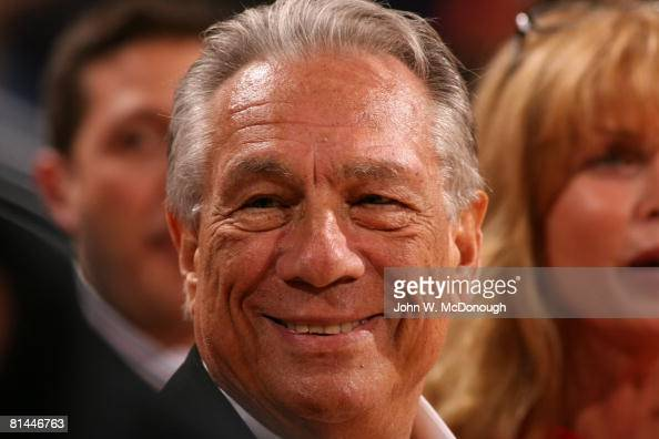 Basketball NBA Playoffs Closeup of Los Angeles Clippers owner Donald Sterling on sidelines during Game 7 vs Phoenix Suns Phoenix AZ 5/22/2006