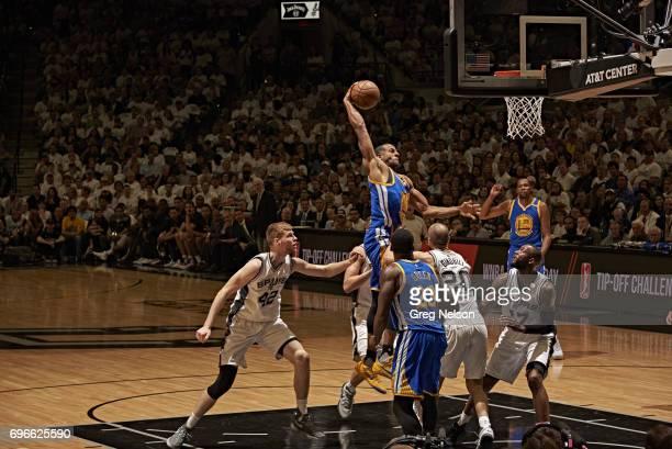 NBA Playoffs Golden State Warriors Andre Iguodala in action dunk vs San Antonio Spurs at ATT Center Game 3 San Antonio TX CREDIT Greg Nelson