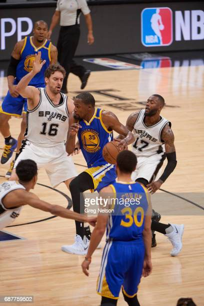 NBA Playoffs Golden State Warriors Kevin Durant in action vs San Antonio Spurs Pau Gasol at ATT Center Game 3 San Antonio TX CREDIT Greg Nelson