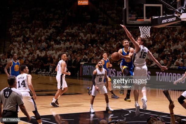 NBA Playoffs Golden State Warriors Stephen Curry in action vs San Antonio Spurs Pau Gasol at ATT Center Game 3 San Antonio TX CREDIT Greg Nelson