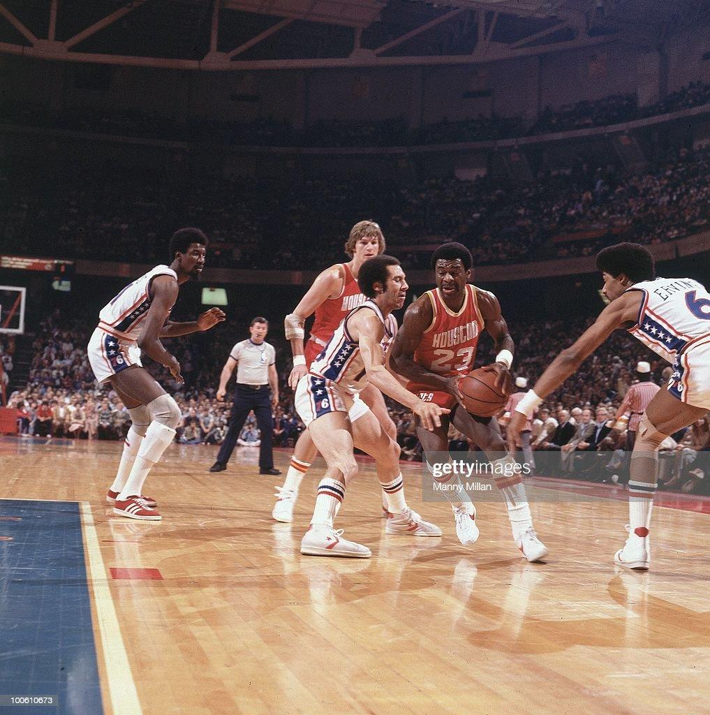 Houston Rockets Calvin Murphy (23) in action vs Philadelphia 76ers. Philadelphia, PA 5/5/1977