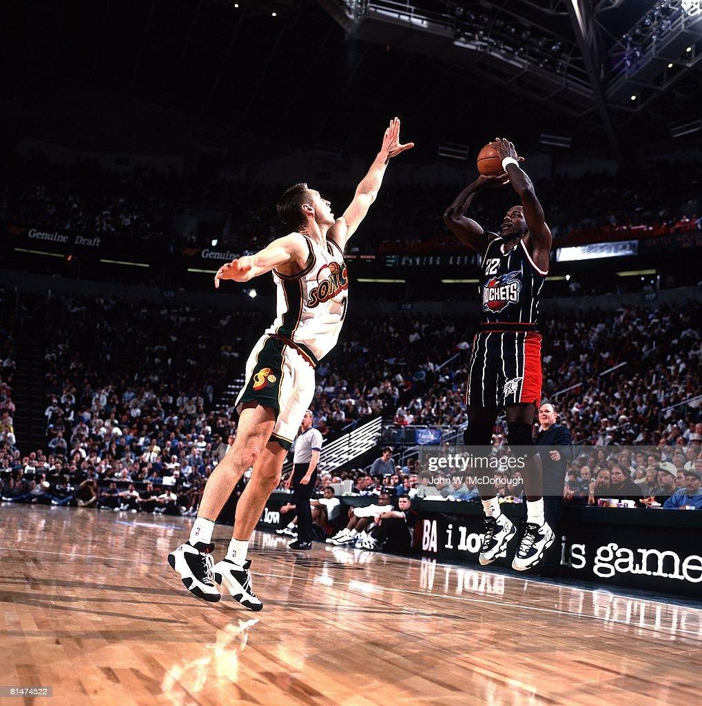 Houston Rockets Clyde Drexler 1996 NBA Playoffs