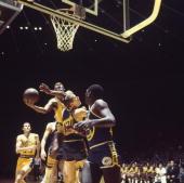 NBA Playoffs Los Angeles Lakers Elgin Baylor in action shot vs San Francisco Warriors Game 1 Inglewood CA 4/5/1968 CREDIT George Long