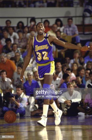 Los Angeles Lakers Magic Johnson, 1989 NBA Western Conference Finals Pictures   Getty Images
