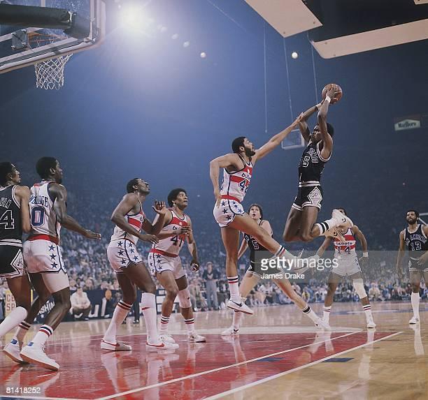 Basketball NBA Playoffs San Antonio Spurs Larry Kenon in action taking shot vs Washington Bullets Landover MD 5/13/1979