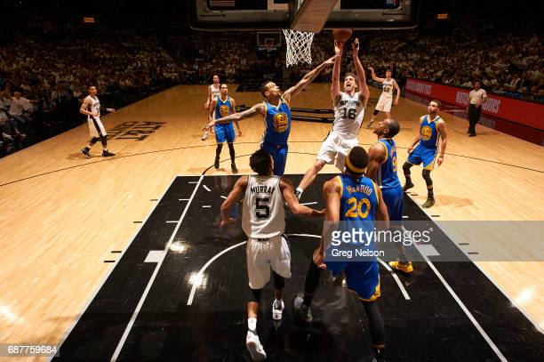 NBA Playoffs San Antonio Spurs Pau Gasol in action vs Golden State Warriors Matt Barnes at ATT Center Game 3 San Antonio TX CREDIT Greg Nelson