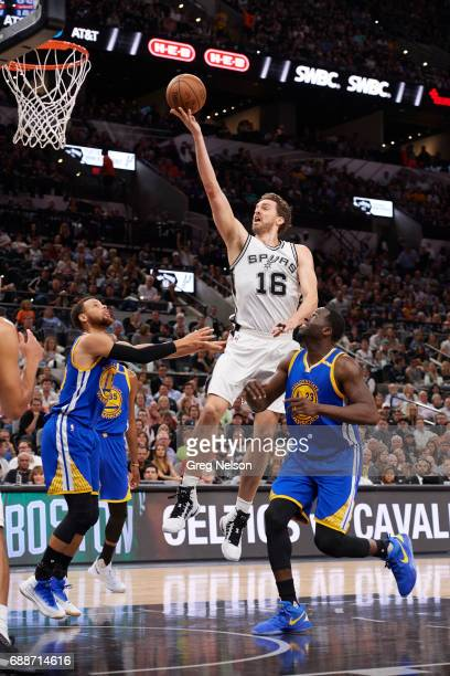 NBA Playoffs San Antonio Spurs Pau Gasol in action vs Golden State Warriors at ATT Center Game 4 San Antonio TX CREDIT Greg Nelson