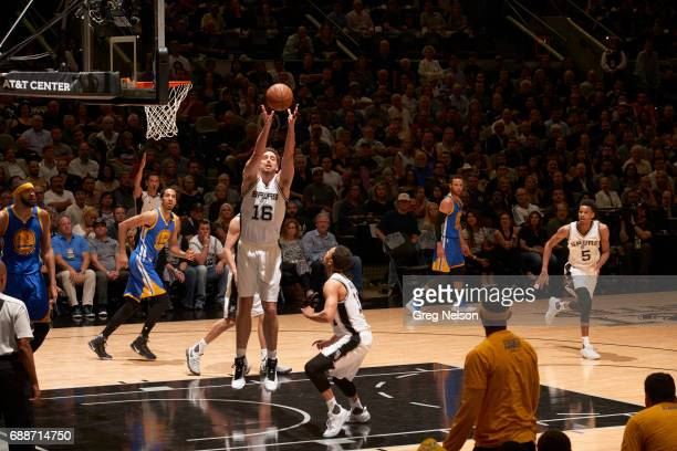 NBA Playoffs San Antonio Spurs Pau Gasol in action rebounding vs Golden State Warriors at ATT Center Game 4 San Antonio TX CREDIT Greg Nelson