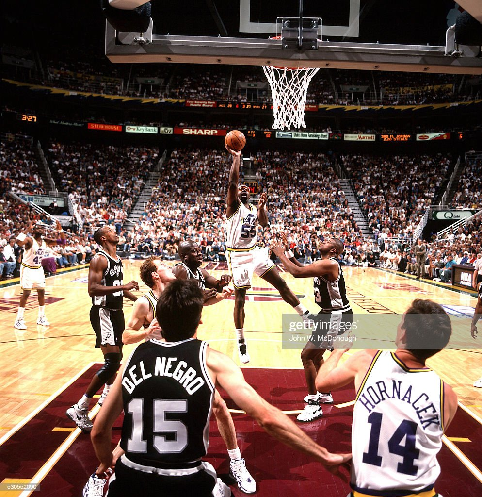 Utah Jazz vs San Antonio Spurs 1996 NBA Western Conference