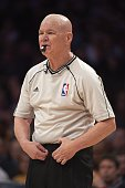 NBA referee Joey Crawford during Los Angeles Lakers vs Milwaukee Bucks game at Staples Center Los Angeles CA CREDIT John W McDonough