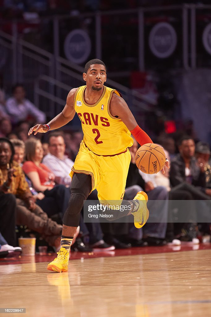Cleveland Cavaliers Kyrie Irving (2) in action during All-Star Weekend at Toyota Center. Greg Nelson F170 )