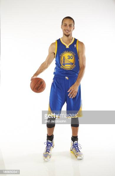 NBA Season Preview Portrait of Golden State Warriors guard Stephen Curry during photo shoot at Oracle Arena Oakland CA CREDIT Jed Jacobsohn