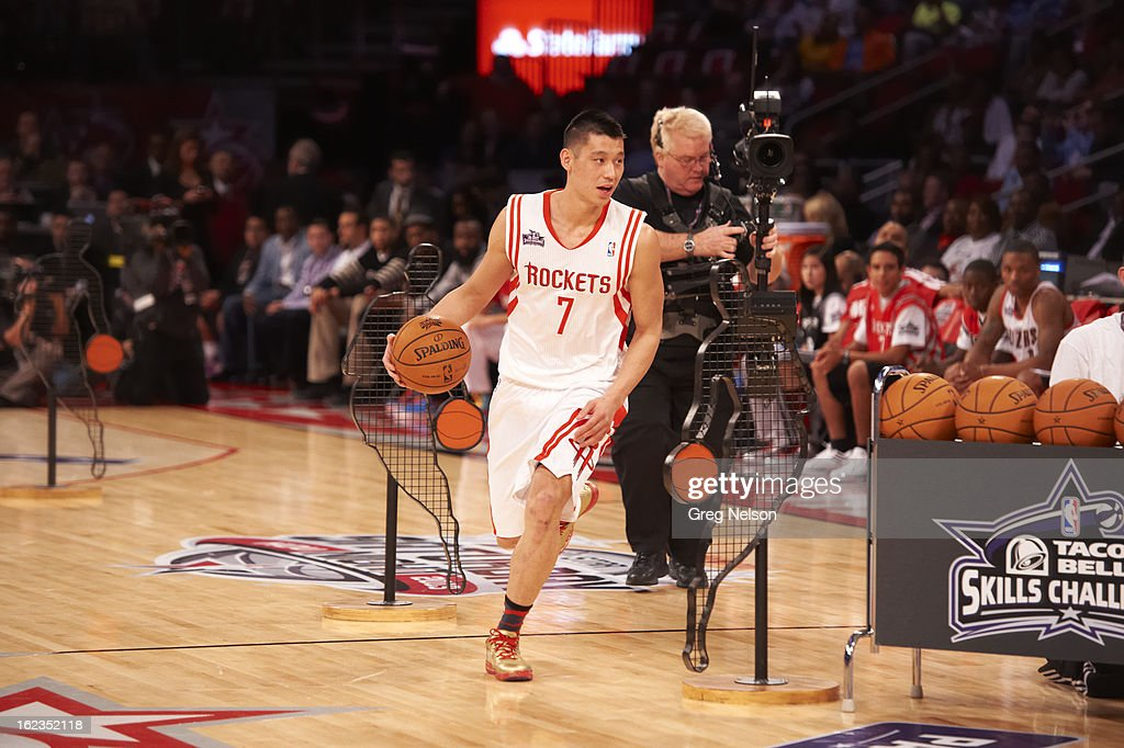 Houston Rockets Jeremy Lin (7) in action during All-Star Weekend at Toyota Center. Greg Nelson F81 )