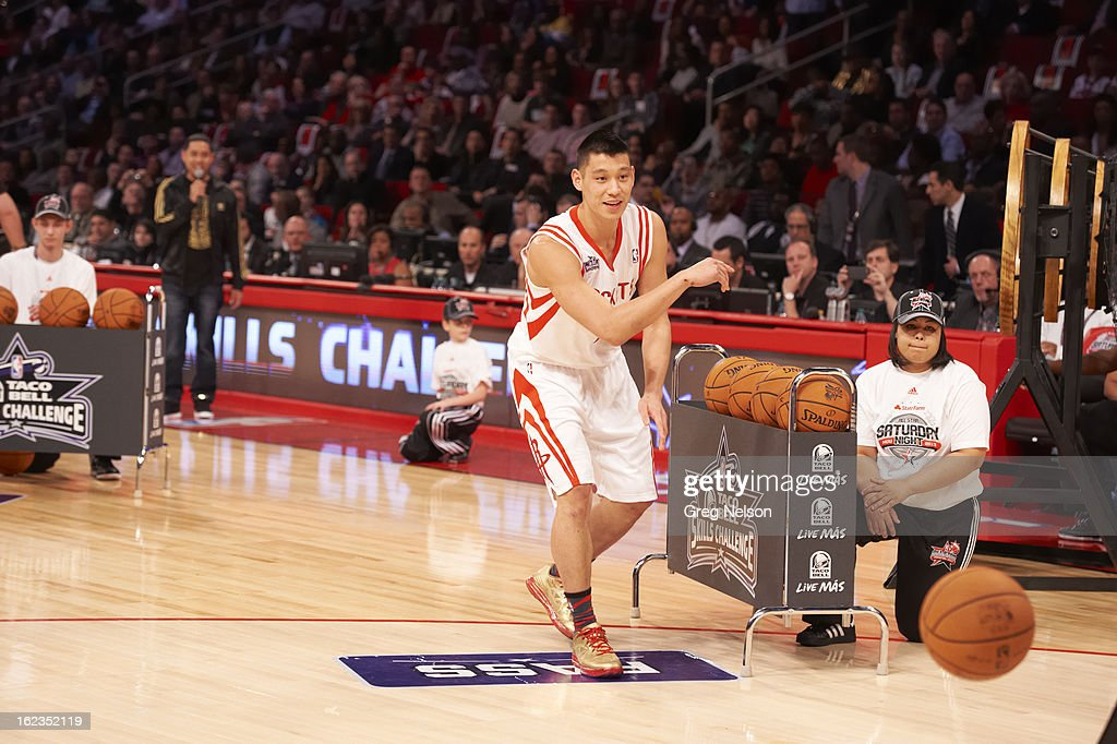 Houston Rockets Jeremy Lin (7) in action during All-Star Weekend at Toyota Center. Greg Nelson F85 )