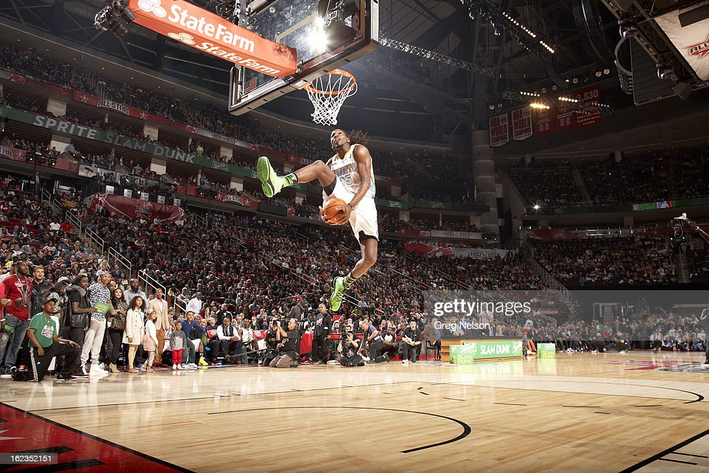 Denver Nuggets Kenneth Faried (35) in action, dunk during All-Star Weekend at Toyota Center. Greg Nelson F20 )