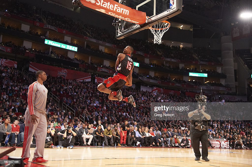 Toronto Raptors Terrence Ross (31) in action, dunk during All-Star Weekend at Toyota Center. Greg Nelson F80 )